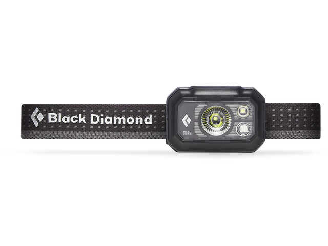 Black Diamond Storm 375 Otsalamppu, graphite
